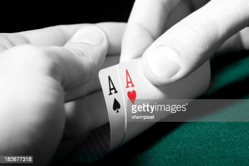 Two Aces in poker game - high contrast