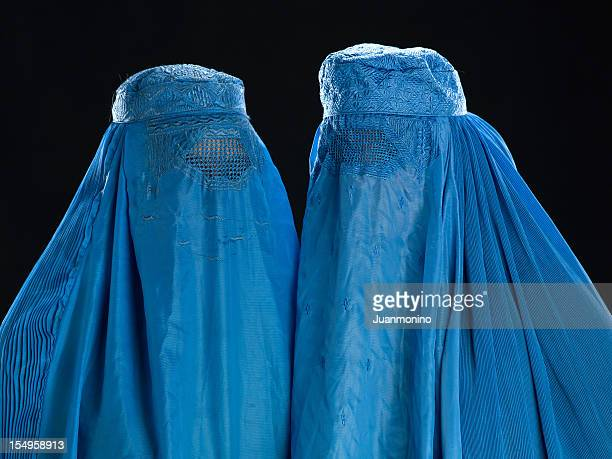 Two Afghan women wearing their burkha