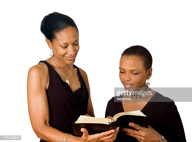 Two African American Women Reading a Bible