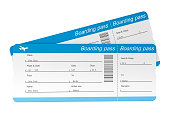 Airline Tickets with clipping path