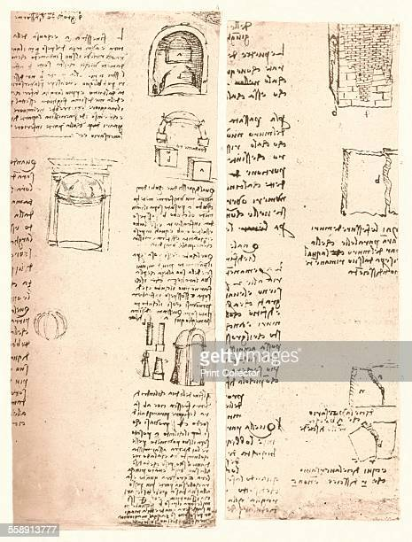 Two architectural drawings c1472c1519 From The Literary Works of Leonardo Da Vinci Vol II by Jean Paul Richter PH DR [Sampson Low Marston Searle...