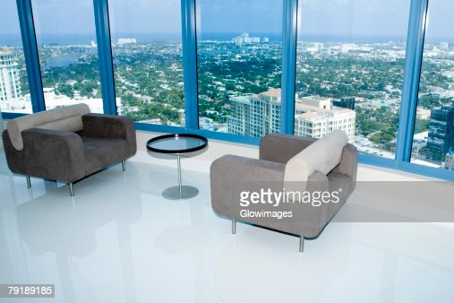 Two armchairs in a hotel : Stock Photo