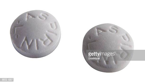 Two aspirin pills Two tablets of aspirin