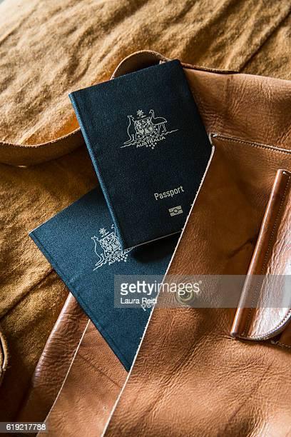 Two Australian Passports in a handbag