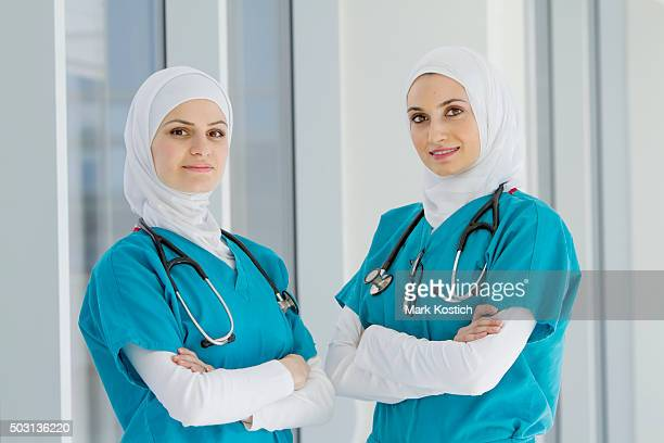 Two Authentic Middle Eastern Healthcare Workers