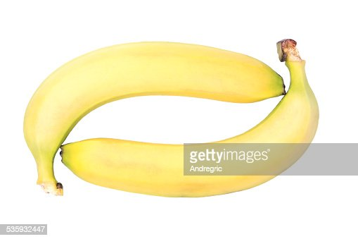 Two bananas : Stock Photo