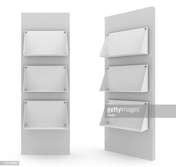 Two bank floor stands in white background