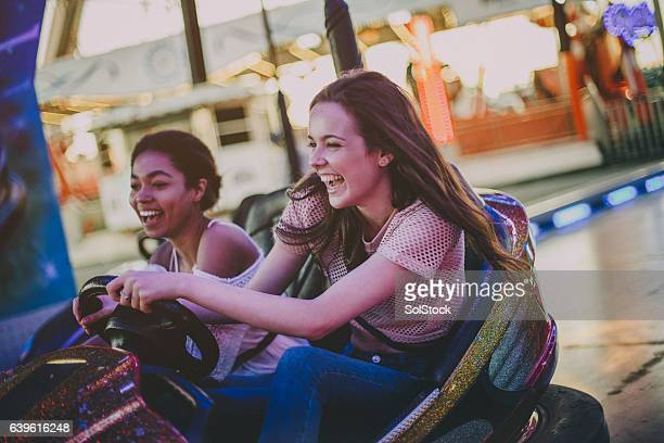Two Best friends in Bumper Car!