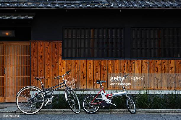 Two bicycles, Gion district.