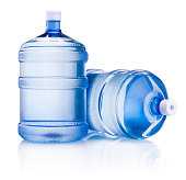 Two big bottle of water isolated on a white background