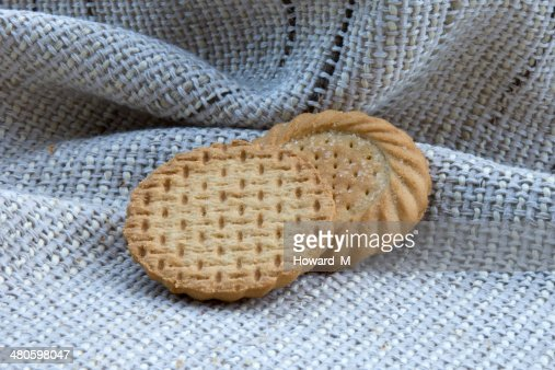 Two biscuits : Stock Photo
