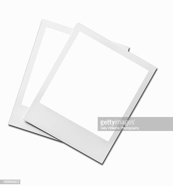 Two blank instant image prints