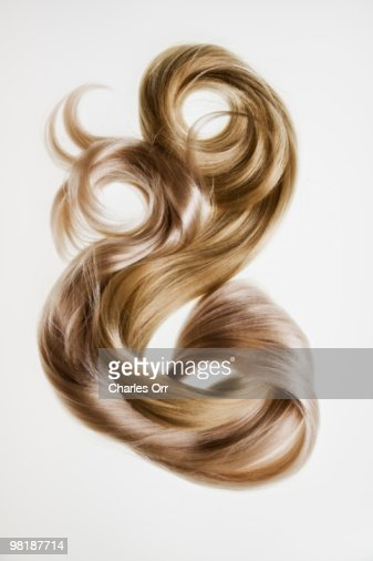 Two blond hair pieces