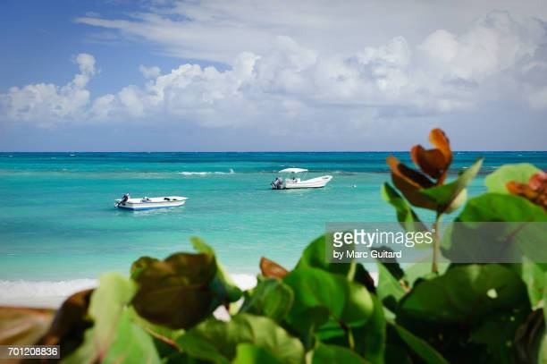 Two Boat in the water at Long Beach, Saint Phillips Parish, Antigua