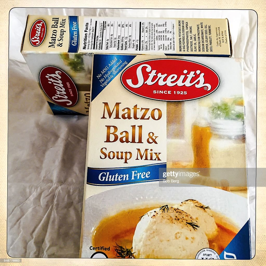 Santa Monica Ca April 9 2015 Two boxes of Streit's matzo ball and soup mix