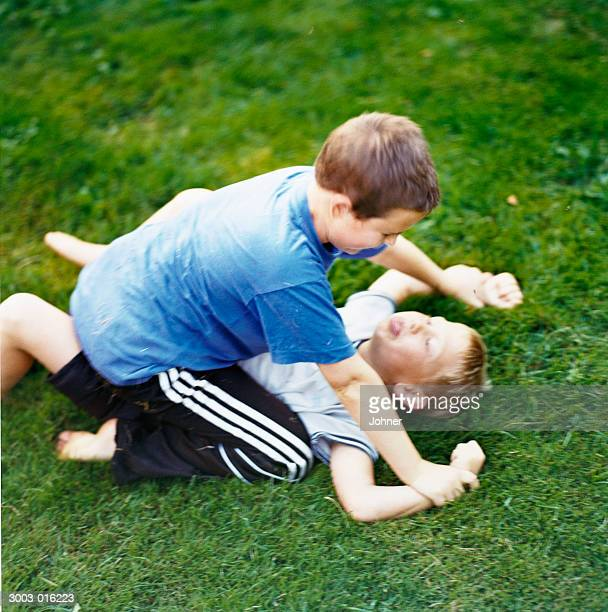 Fun Fight Kids Stock-Fotos Und Bilder