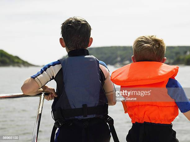 Two boys on boat