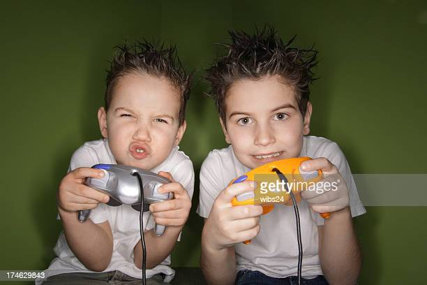 Two brother playing video games