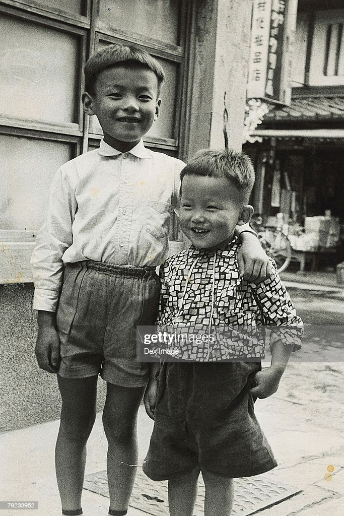 Two brothers : Stock Photo