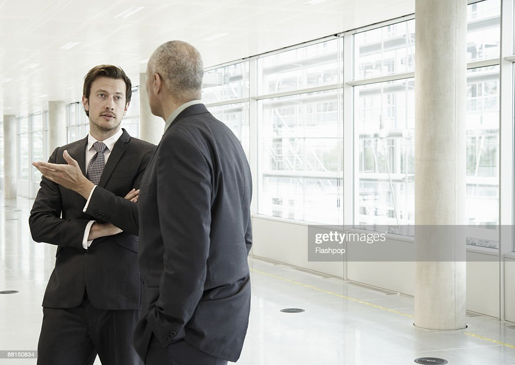 Two business men in discussion : Stock Photo