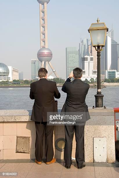 Two business men in Shanghai