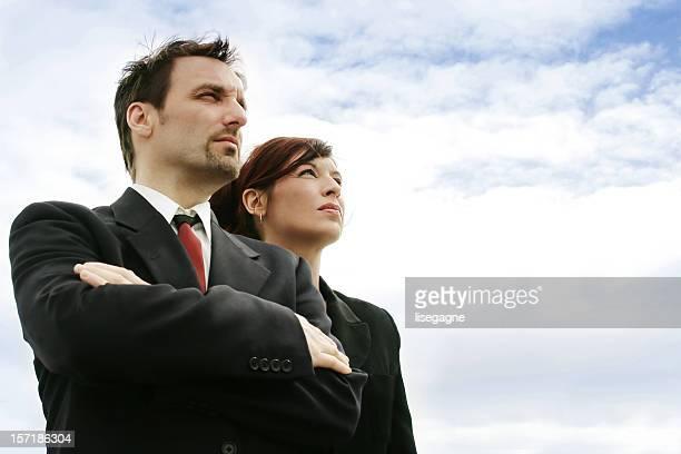 2 つのビジネス人々の距離にございます。