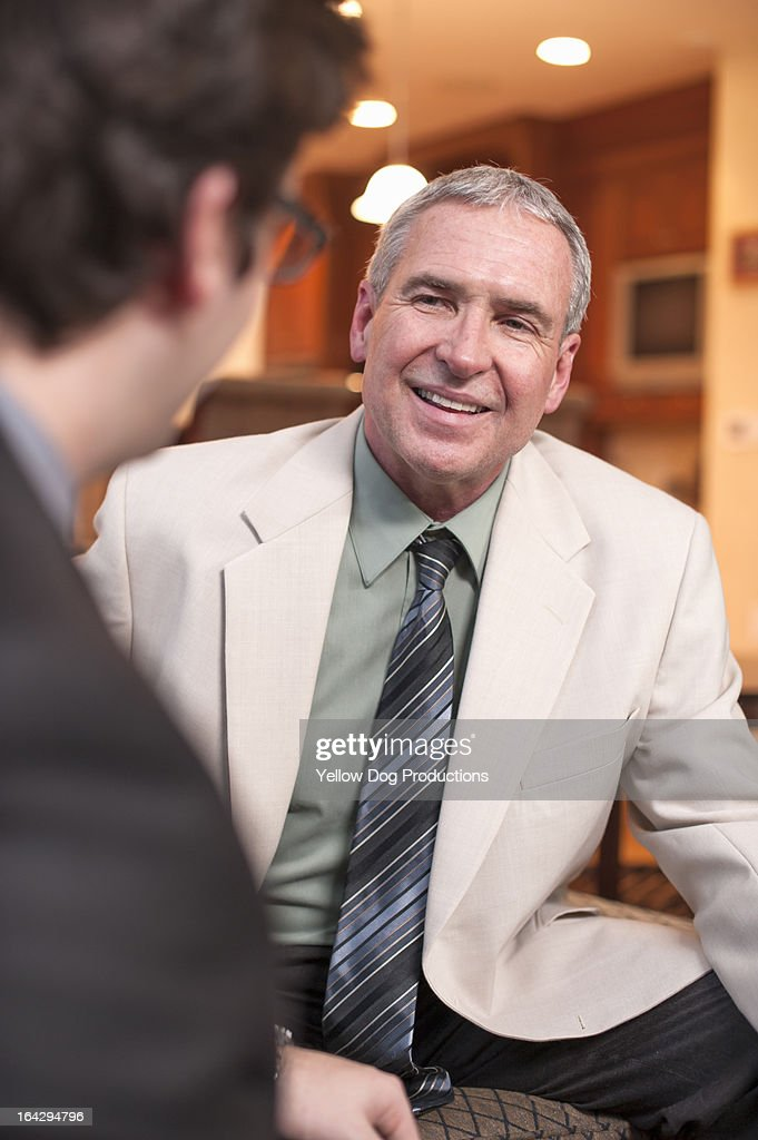 Two businessmen in a discussion : Stock Photo