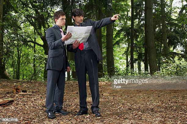 Two Businessmen Lost in Forest