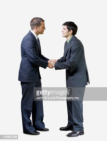 Two businessmen shaking hands : Stock Photo