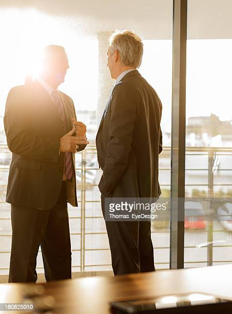 Two Businessmen talking in a business meeting