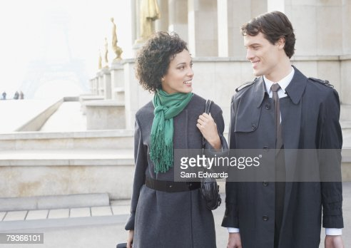 Two businesspeople outdoors : Stock Photo