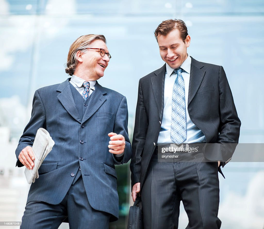 Two businesspeople talking. : Stock Photo