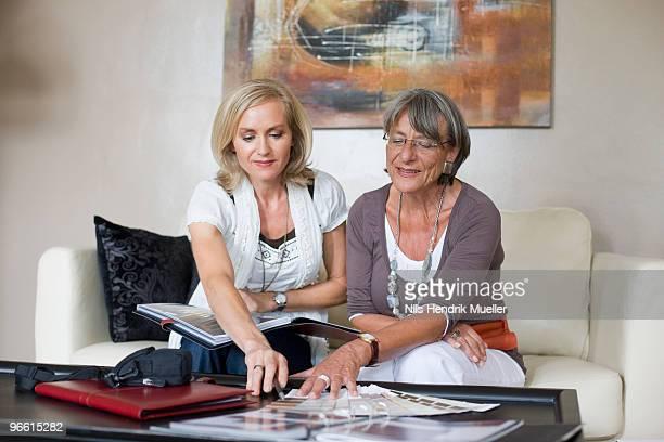 two businesswomen having a conversation