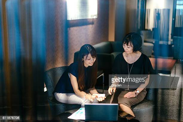 Two businesswomen in Japan