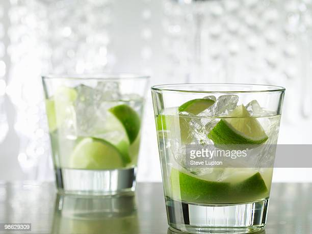 Two Caipirinha Cocktail Drinks