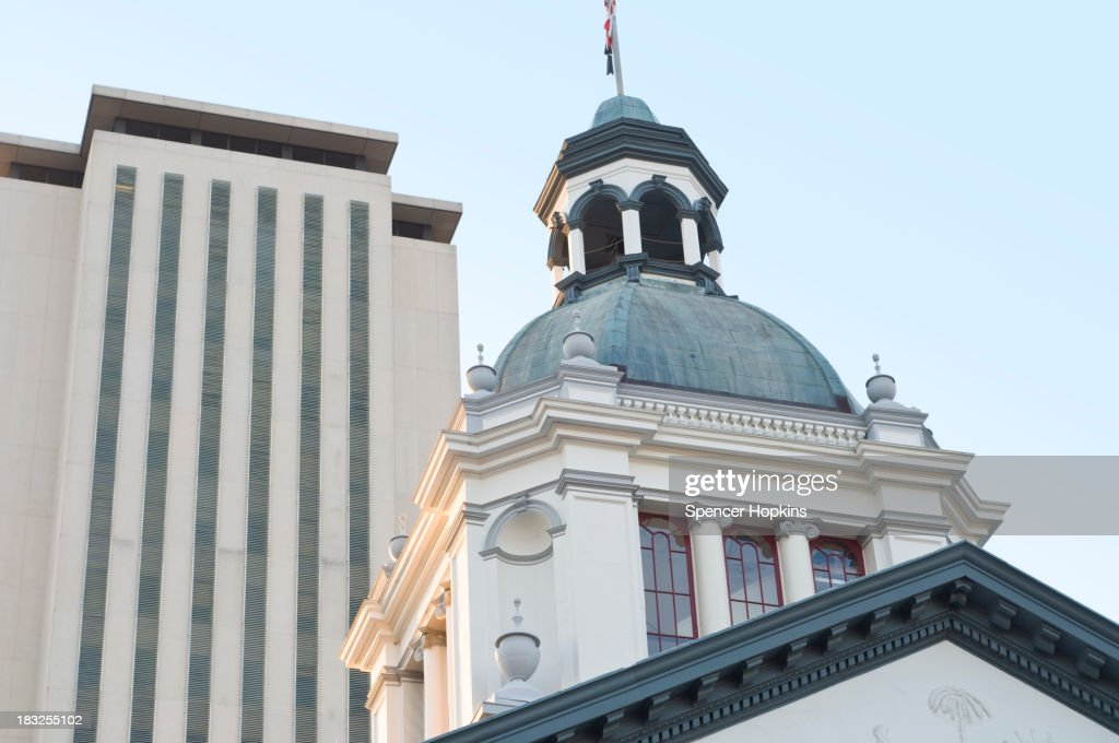 'Two Capitol Buildings in Tallahassee, Florida'