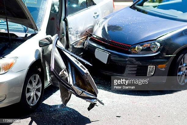 Two car collision.