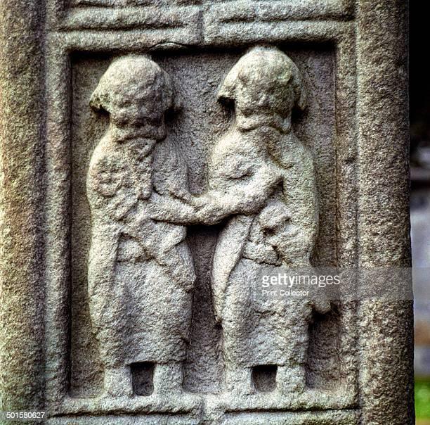 Two Celtic warrior chiefs Clonmacnoise Ireland