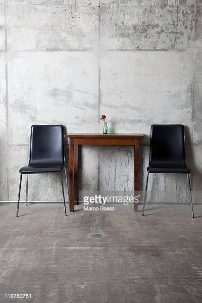 Two chairs and a table