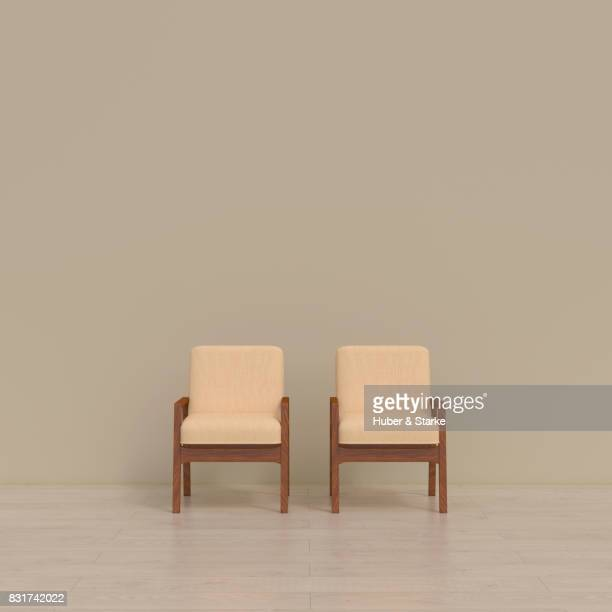 Two chairs in a waiting room