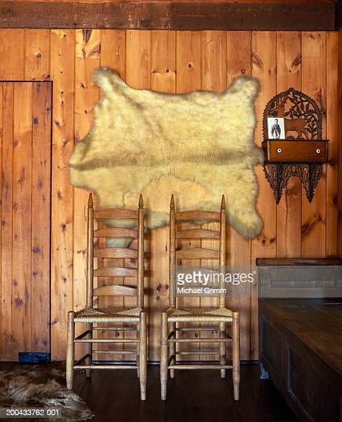 Two chairs in room