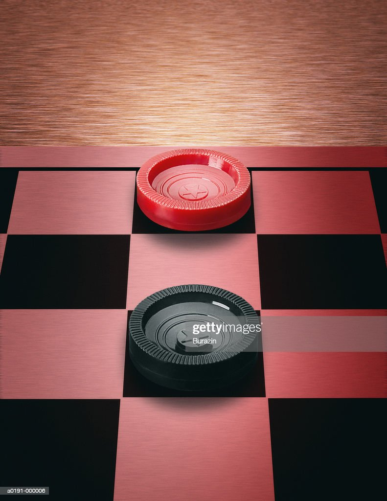 Two Checkers in Stalemate