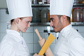 Two chef's in the kitchen