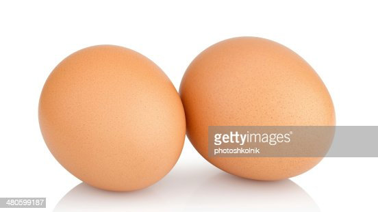 two chicken eggs : Stock Photo