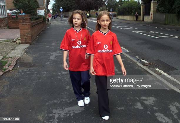 Two child actors playing Jessica Chapman left and Holly Wells walk down Sand Streetas they take part in a police reconstruction in Soham...