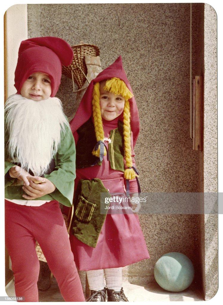 Two children dressed : Stock Photo