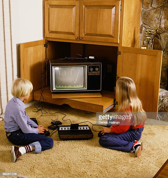 Two children playing video games