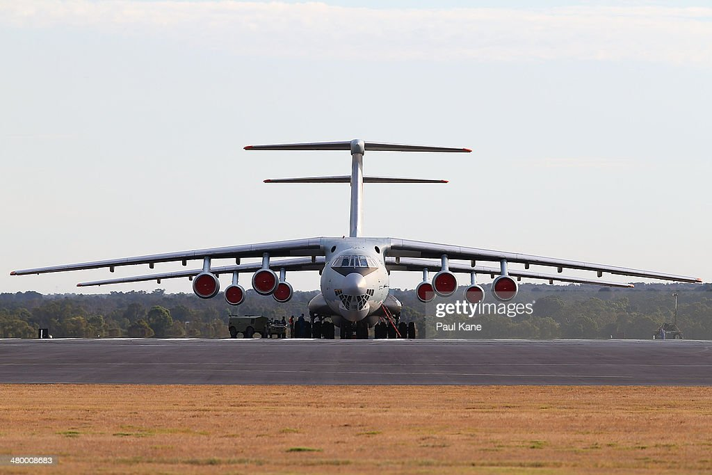 Two Chinese Air Force Ilyushin Il76 aircraft are prepared for flight at the RAAF base Pearce in readiness to commence a search for possible debris on...