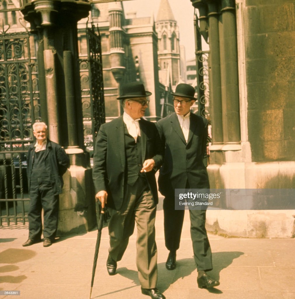 Two city gentlemen in the Temple area of London