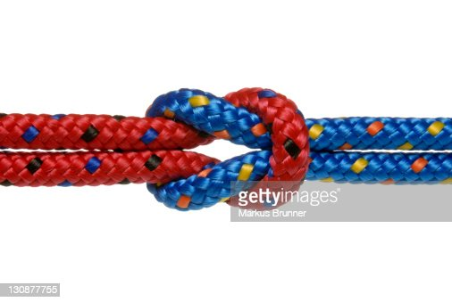 Two climbing ropes bound together, symbolic picture for solitarity, strong bond